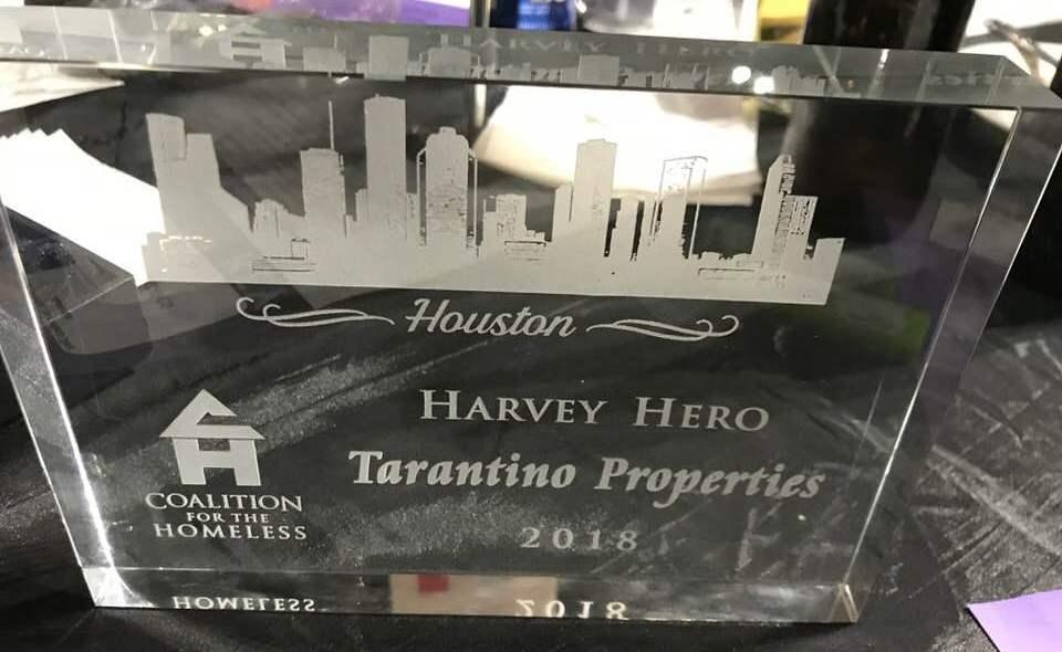 Tarantino Honored at 2018 World Homeless Day Awards